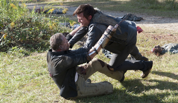 Merle Dixon (Michael Rooker) and Daryl Dixon (Norman Reedus) in The Walking Dead S03E15: 'This Sorrowful Life'