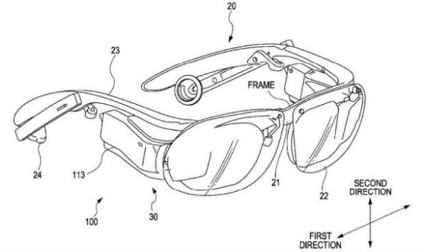 Sony smartglasses patent image