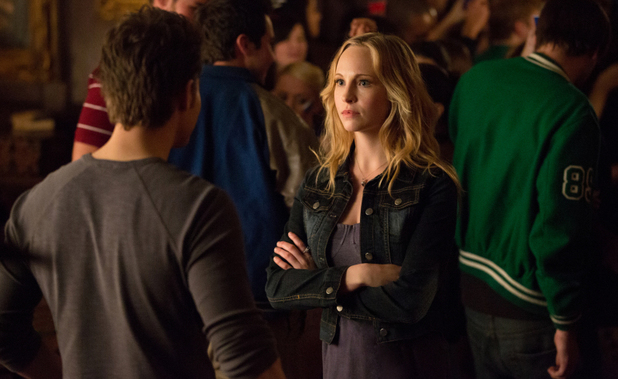 Paul Wesley as Stefan and Candice Accola as Caroline in The Vampire Diaries S04E16: 'Bring It On'