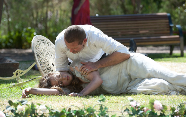 Toadie finds Sonya unconscious following the explosion