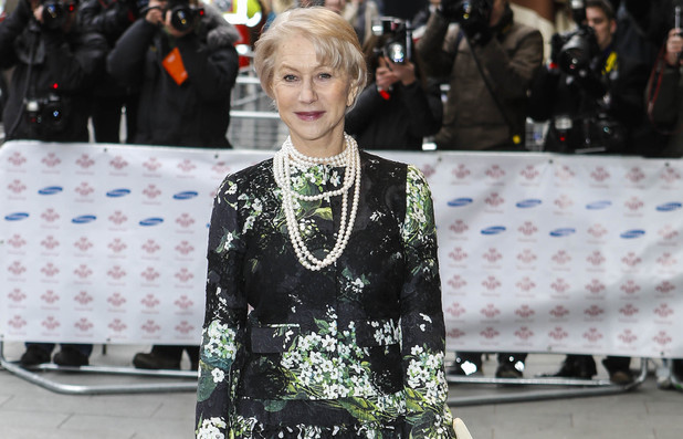 Dame Helen Mirren arriving at The Prince's Trust and Samsung Celebrate Success Awards at Odeon Leicester Square, London