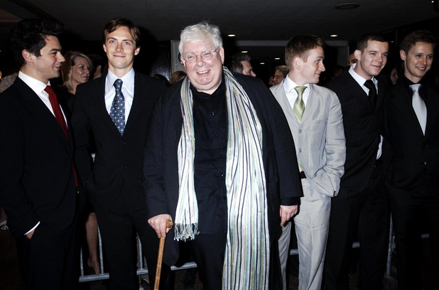 Richard Griffiths with 'History Boys' castmates (including Russell Tovey) at the 2006 Drama Desk Awards
