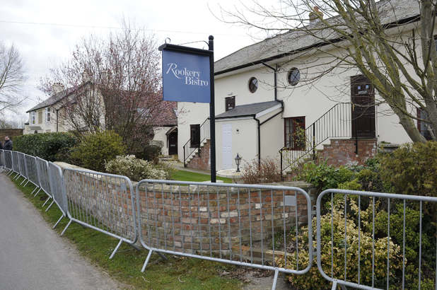 Preparations at Rookery Manor ahead of Katie Price's wedding to Kieran Hayler