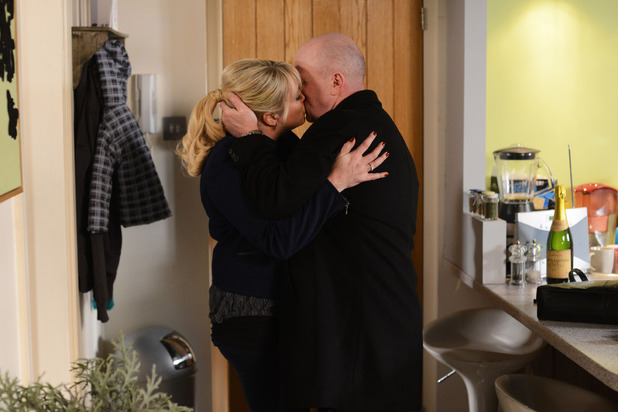 Sharon and Phil share another kiss