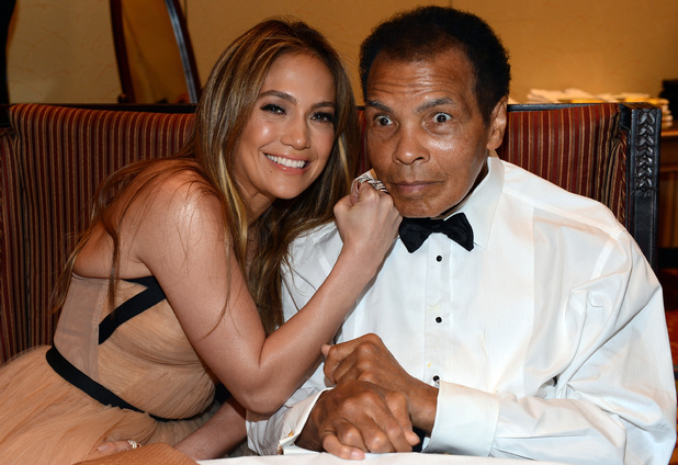 Jennifer Lopez & Muhammad Ali at Celebrity Fight Night XIX