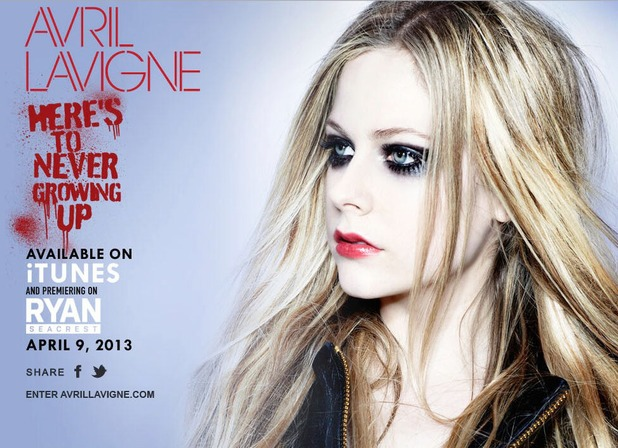 Avril Lavigne in new single 'Here's To Never Growing Up' still
