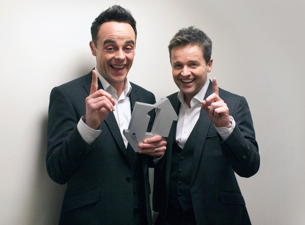 Ant & Dec celebrate their number one single