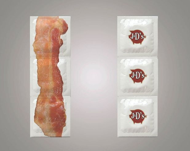bacon condoms, Bacon-flavoured condoms, Seattle, America