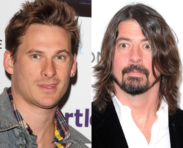 Lee Ryan and Dave Grohl