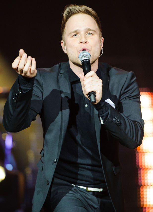 Olly Murs performs at the O2 Arena, London.