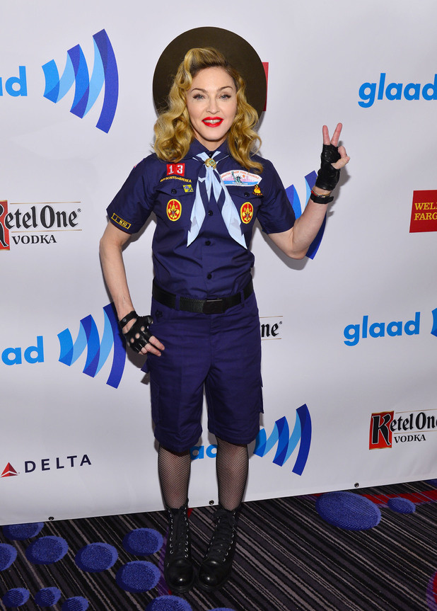 Stars dressed as scouts