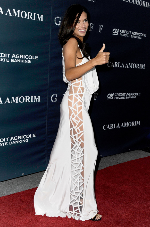 Adriana Lima, dress, Brazilfoundation Miami Gala