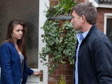 8097: Sophie makes conversation with Karl who tries to hide his guilt as he offers his condolences over Sunita