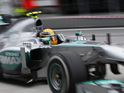 The Mercedes Formula One driver made the amusing gaffe at the Malaysian Grand Prix.