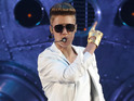 "Justin Bieber performs on stage during the ""I Believe Tour "" in Munich."