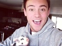 The Olympic diver and Splash! star shows off his two new pets on Twitter.