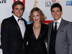 Logies 2013: Chris Milligan, Eve Morey and James Mason from Neighbours.