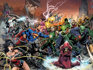 Trinity War Justice League of America Dark covers.