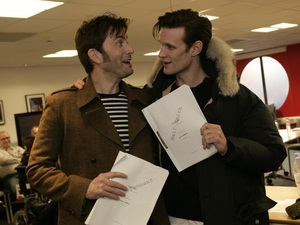 David Tennant and Matt Smith at &#39;Doctor Who&#39; 50th read-through