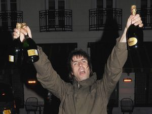 Liam Gallagher, champagne, night out, Little House