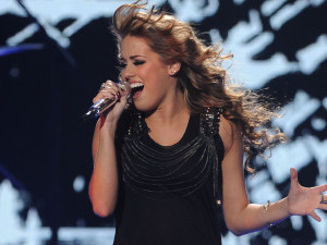 Angie Miller performs on American Idol