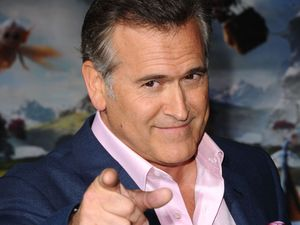 Bruce Campbell arrives for the &#39;Oz the Great and Powerful&#39; film premiere.