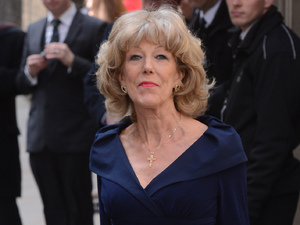 Sue Nicholls at the wedding of Helen Worth and Trevor Dawson.