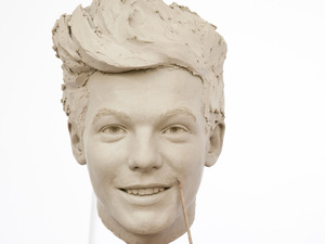 Madame Tussauds Sculptor Georgina Power works on the clay head for One Direction's Louis Tomlinson