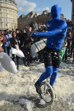 2013 International Pillow Fight Day in Trafalgar Square