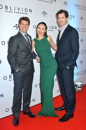 Tom Cruise, Olga Kurylenko and Joseph Kosinski at the 'Oblivion' premiere in Dublin, Ireland