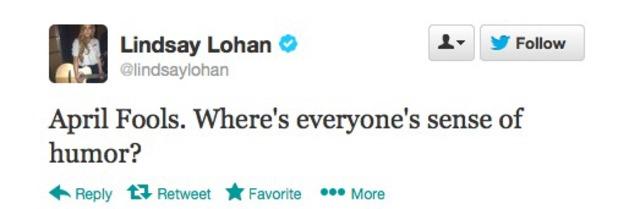 Lindsay Lohan reveals pregnancy prank