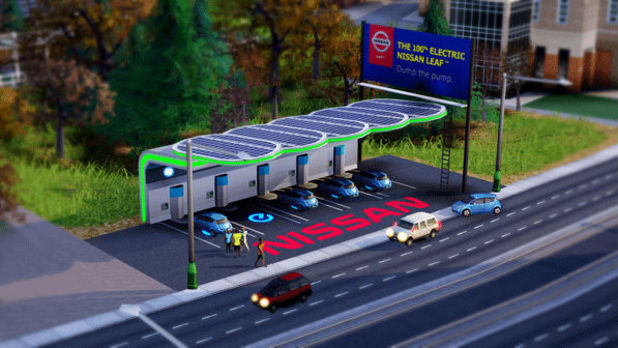 SimCity Nissan Leaf Charging Station DLC