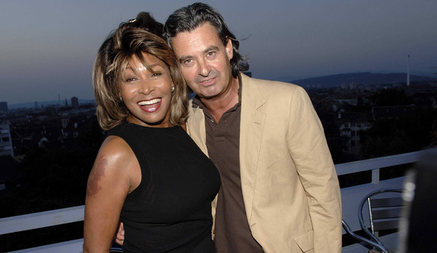 Tina Turner and her partner Erwin Bach