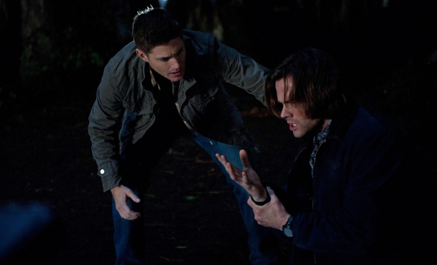 Jensen Ackles as Dean and Jared Padalecki as Sam in Supernatural S08E19: 'Taxi Driver'