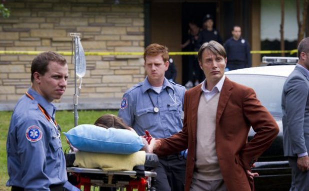 Mads Mikkelson as Dr. Hannibal Lecter in Hannibal S01E01: 'Apertif'