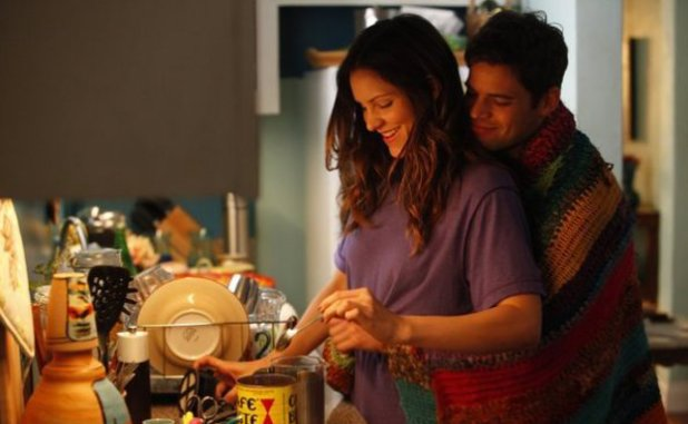 Katharine McPhee as Karen Cartwright, Jeremy Jordan as Jimmy Collins in Smash S02E09: 'The Parents'