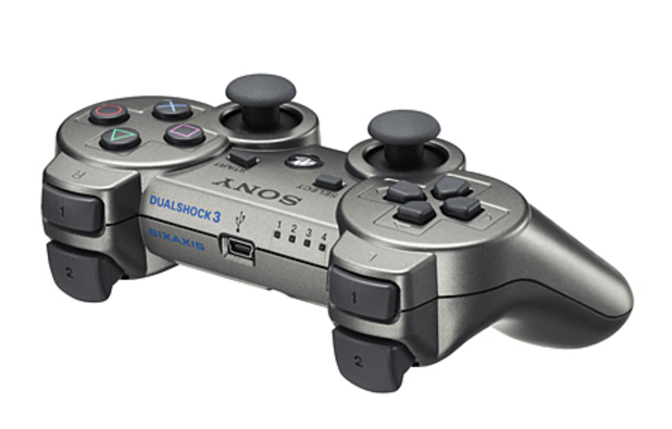 Metallic grey PS3 controller