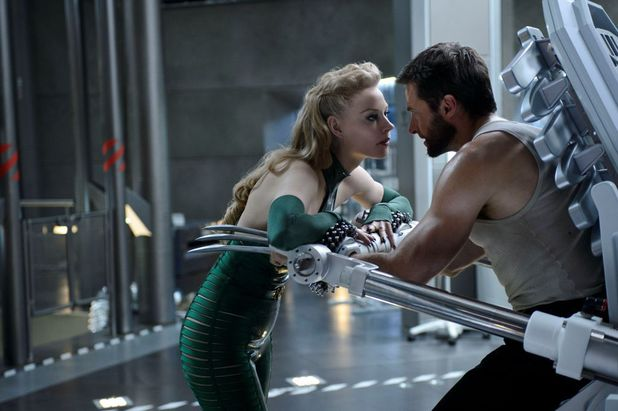 Svetlana Khodchenkova as Viper and Hugh Jackman as Logan in 'The Wolverine'