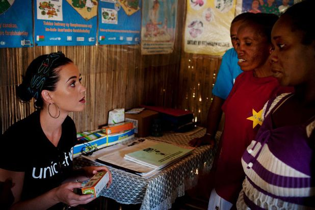 Katy Perry visits children in Madagascar