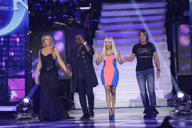 'American Idol' judges Keith Urban, Nicki Minaj, Randy Jackson and Mariah Carey ~~ April 4, 2013