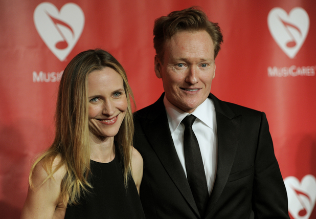 Conan O'Brien with Liza Powel, Musicares Person of the Year Gala 2013