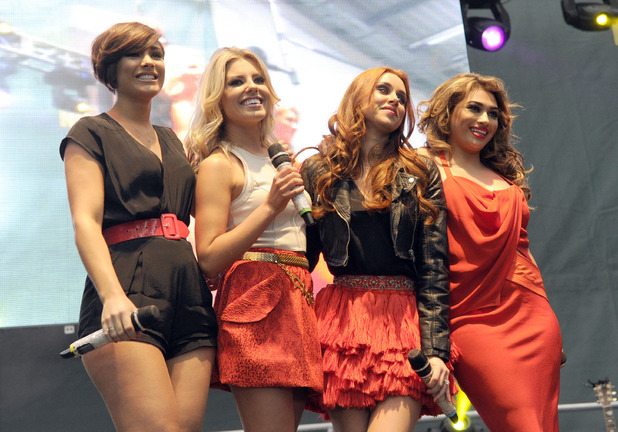 The Saturdays, Aintree, Grand National Festival 2012, Frankie Sandford, Mollie King, Una Healy, Vanessa White