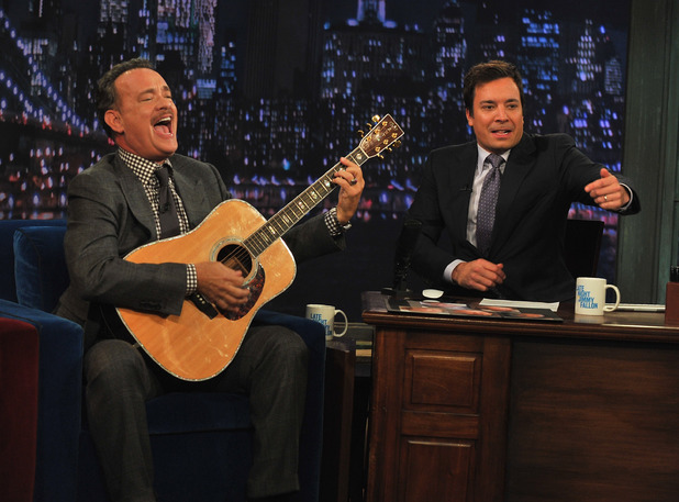Tom Hanks joins Jimmy Fallon on 'Late Night' -- October 23, 2012