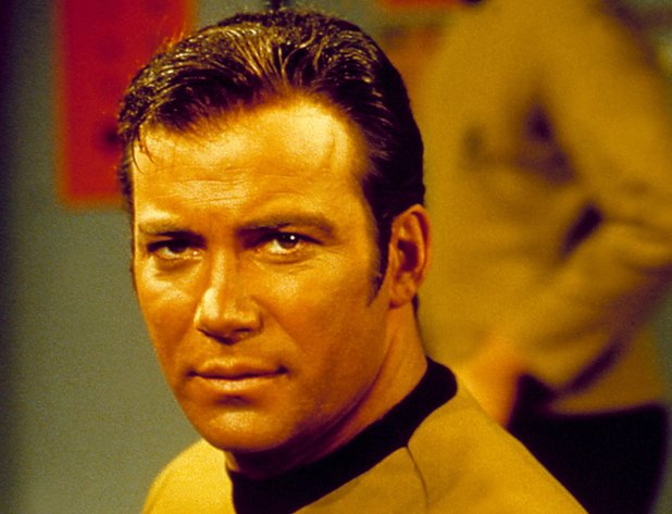 William Shatner in 'Star Trek' during the 60s