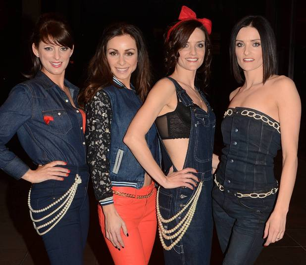 B*Witched outside the RTE studios where they appeared on 'The Late Late Show'