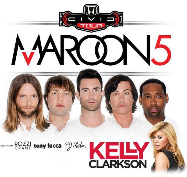 Maroon 5, Kelly Clarkson tour poster