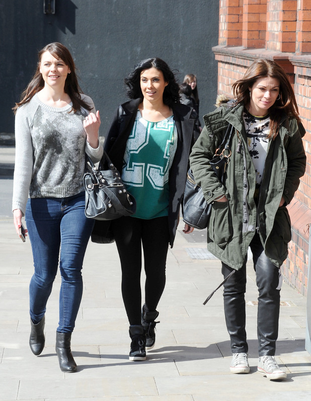 Kate Ford, Kym Marsh and Alison King