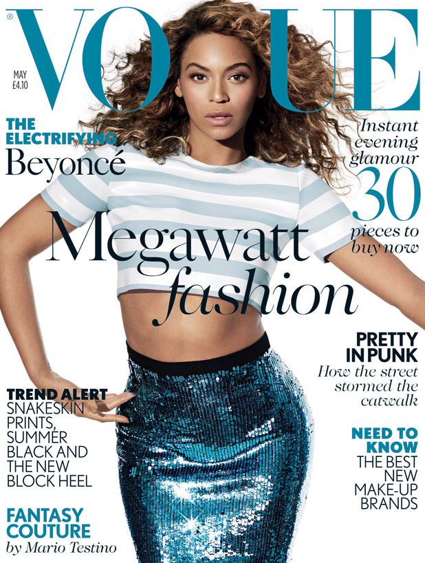 Beyoncé on the cover of the May edition of British Vogue