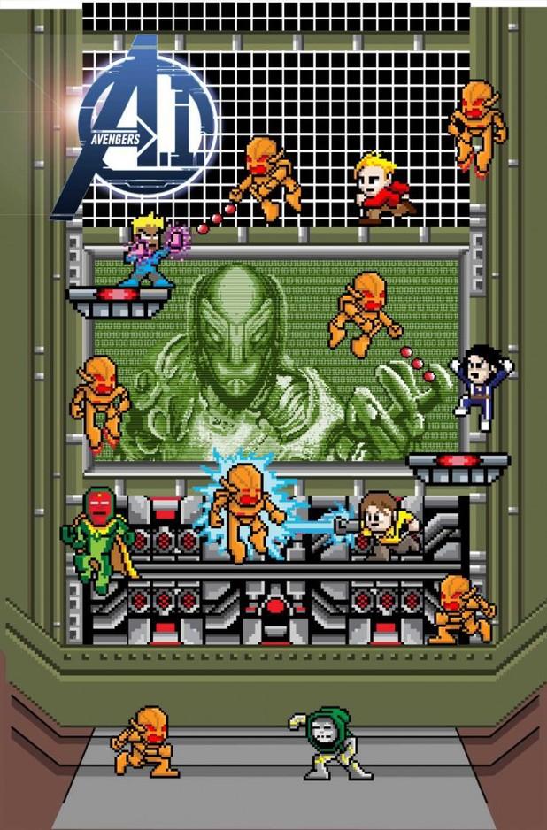 Avengers AI #1 variant cover