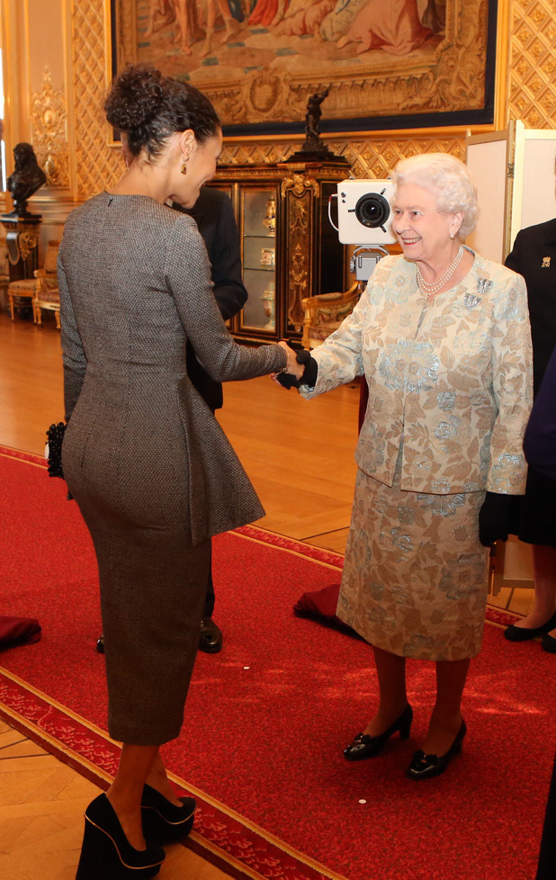 Queen Elizabeth II meets Thandie Newton